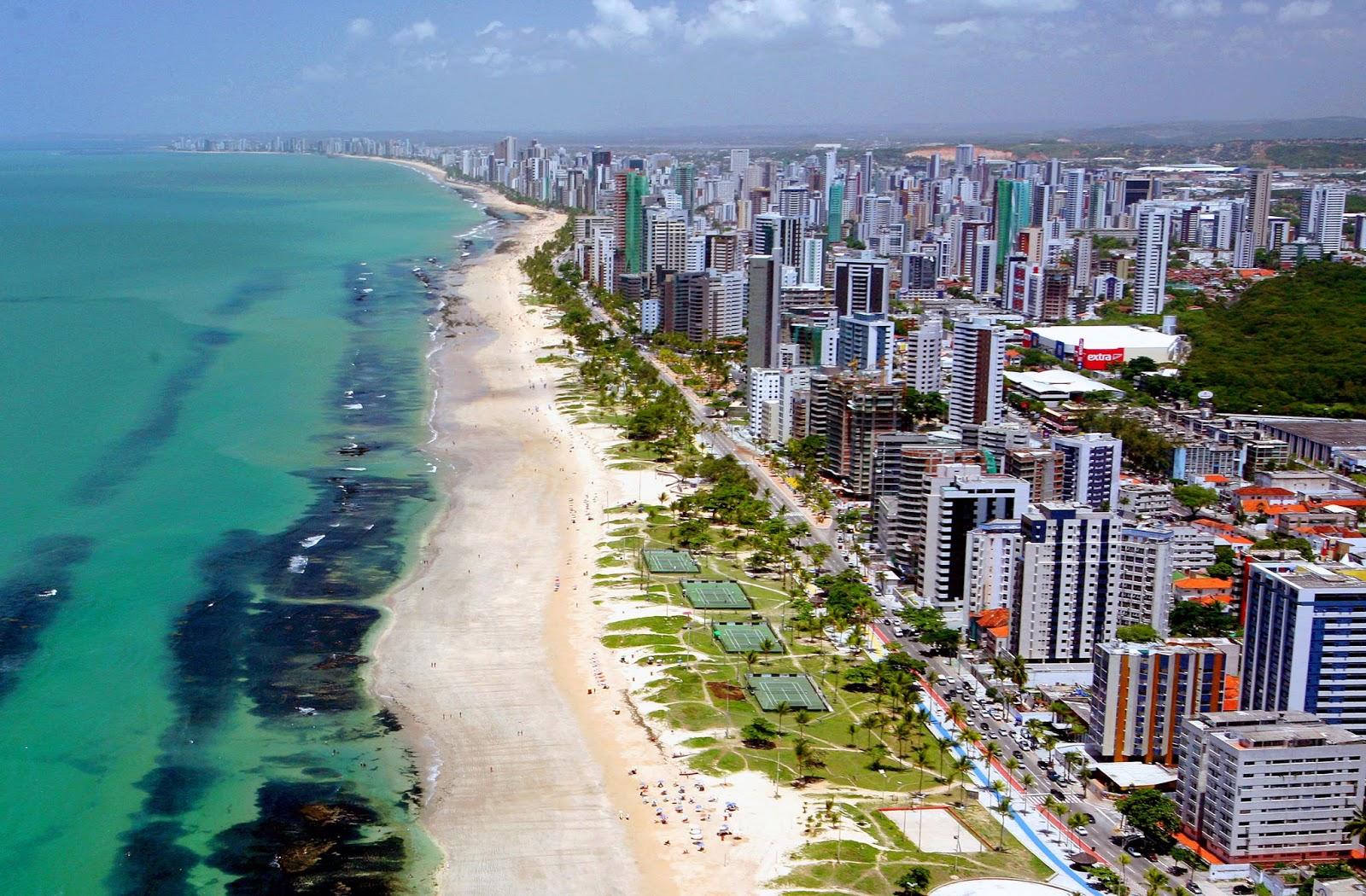 Playa Boa Viagem en Recife, Brasil
