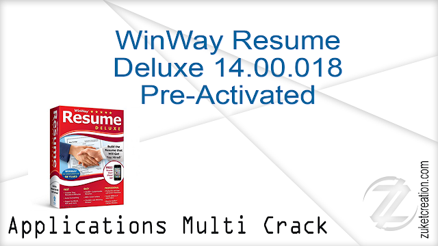 WinWay Resume Deluxe 14.00.018 Pre-Activated