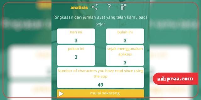 Menu analisis statistik aplikasi Nakhtim | adipraa.com