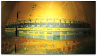 Estádio Olímpico Monumental em Detalhe do Painel 'Estaremos onde o Grêmio Estiver'
