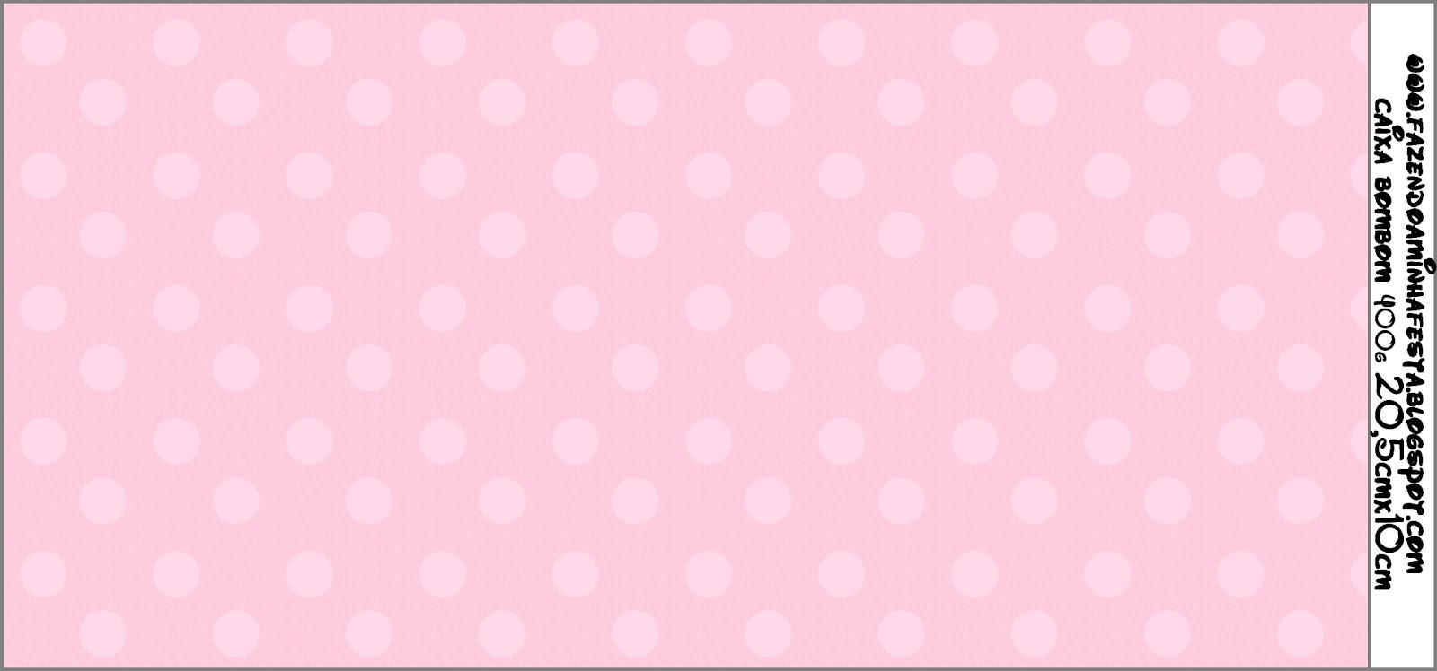 Imprimibles De Lunares Rosa Claro Sobre Fondo Rosa 6