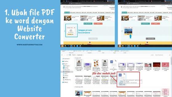 mengubah file pdf ke microsoft word dengan web converter 2