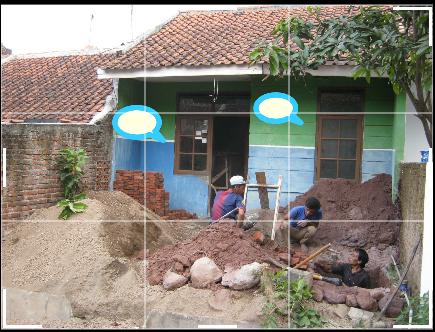 Renovasi rumah dilakukan oleh 3 tukang