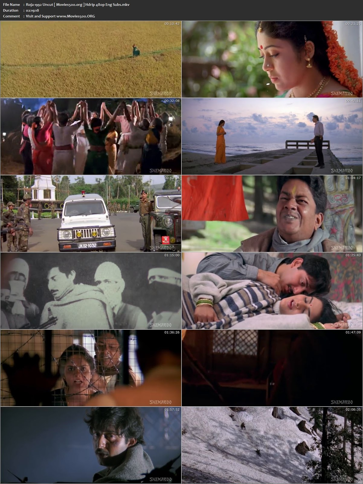 Roja 1992 Hindi Dubbed Full 300MB Download HDRip 480p at movies500.site