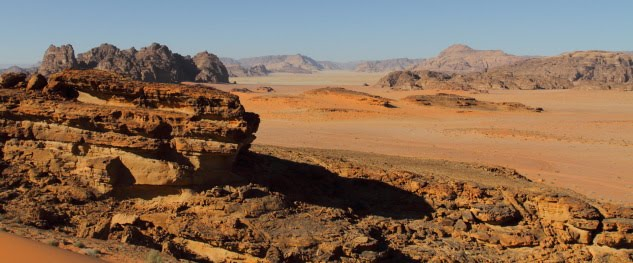 The Martian landscape of Wadi Rum, Jordan
