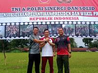 """""""Jelang Pelantikan Prisiden Dan Wakil Presiden"""" Personil TNI-POLRI Di Kab. Madina Melaksanakan Olahraga Bersama"""