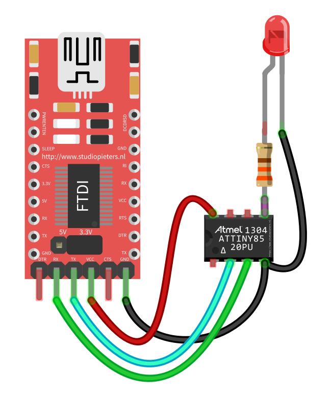 Komunikasi Serial ATtiny85 , ATtiny85 Serial Monitor Arduino IDE