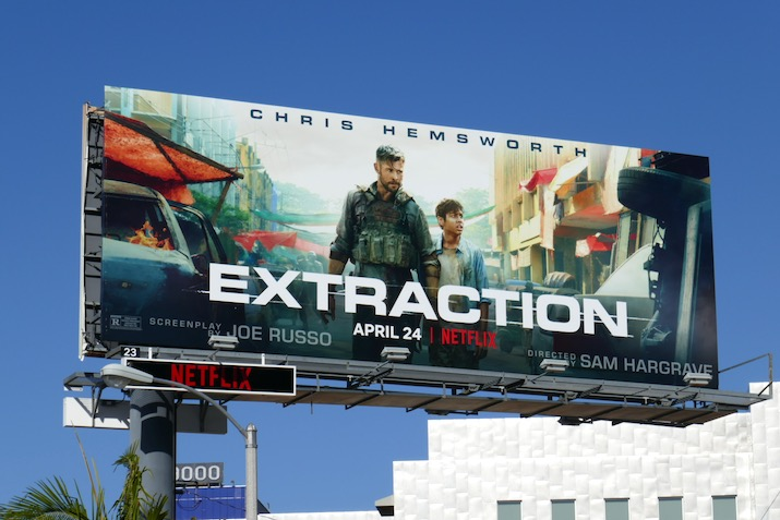 Extraction film billboard