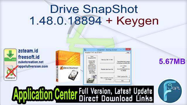 Drive SnapShot 1.48.0.18894 + Keygen_ ZcTeam.id