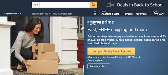 美國Amazon Prime會員申請教學