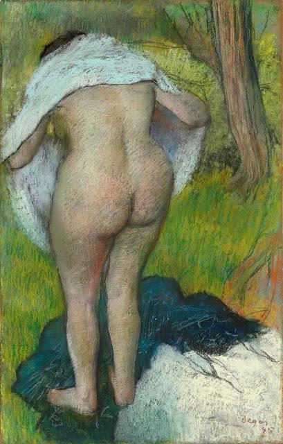 Эдгар Дега - Вытирающаяся девушка (1885)