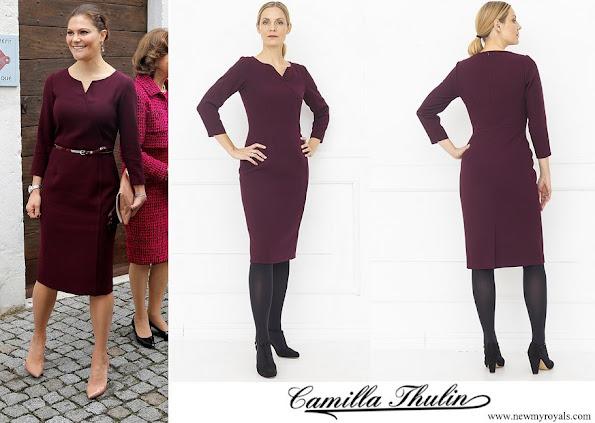 Crown Princess Victoria wore Camilla Thulin Montana dress