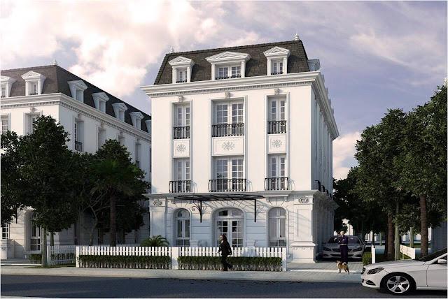 Phối cảnh biệt thự Embassy Garden theo mẫu thiết kế số 3