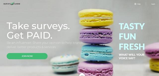 Kiếm tiền với trang nhiều khảo sát nhất Survey Junkie