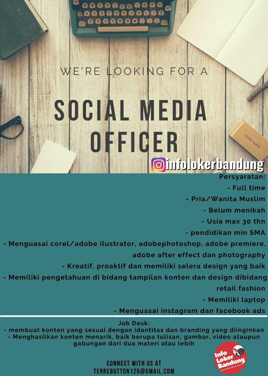 Lowongan Kerja Social Media Officer Bandung Januari 2020