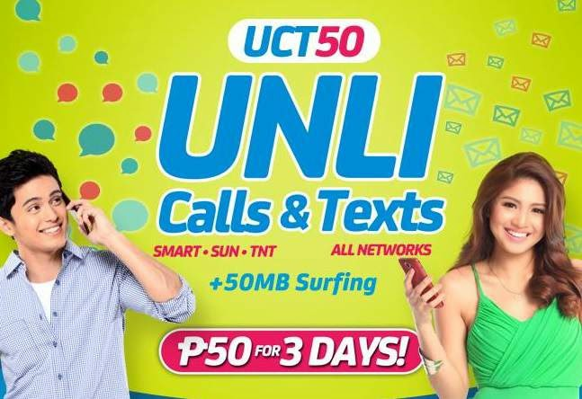 Smart 50 pesos Unli Call and Text plus All-net valid for 3 days