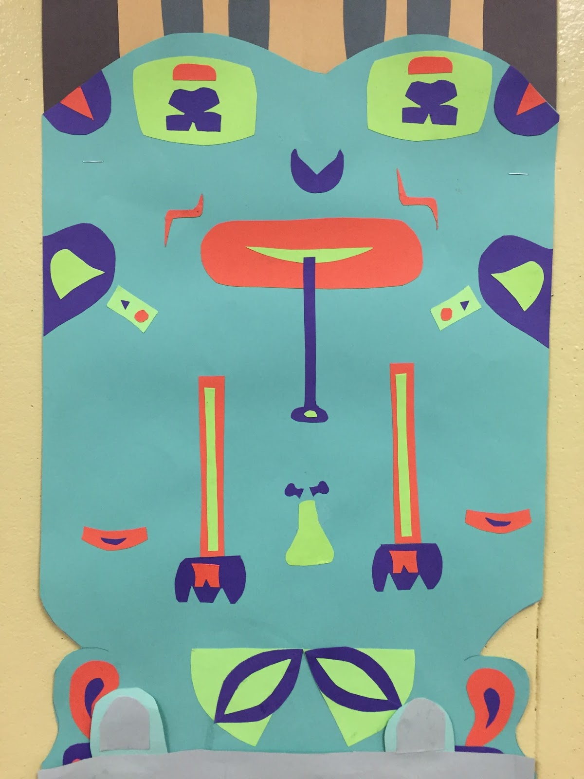 Thomas Elementary Art Totem Poles By 4th Grade