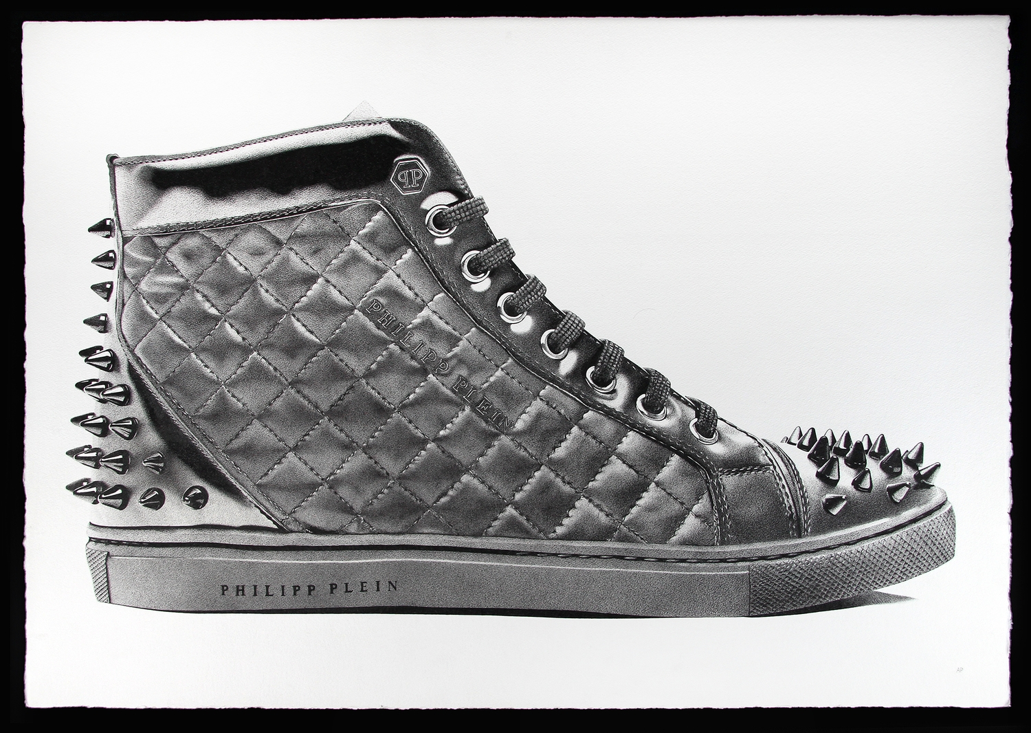 05-Philipp-Plein-High-Top-Sneaker-Alessandro-Paglia-Photo-Like-Black-and-White-Drawings-www-designstack-co