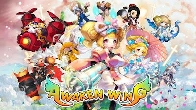Awaken Wing: Sky Heroes Story v 1.6.0 Apk Mod (x10 Attack / HP, Def / No Skill CD / No skill Cost)