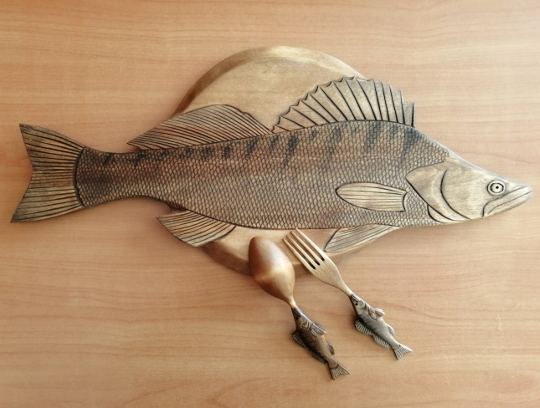 набор деревянной посуды в подарок рыбаку