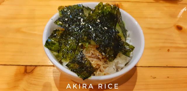 akira rice, menu akira grill