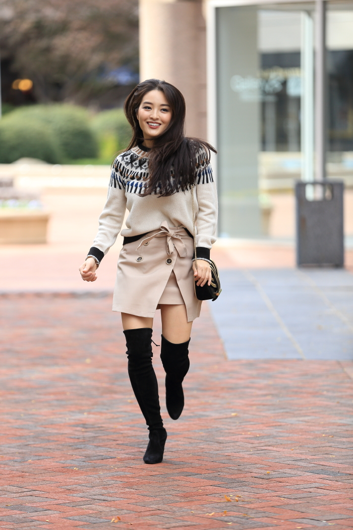 how to wear a Khaki Miniskirt