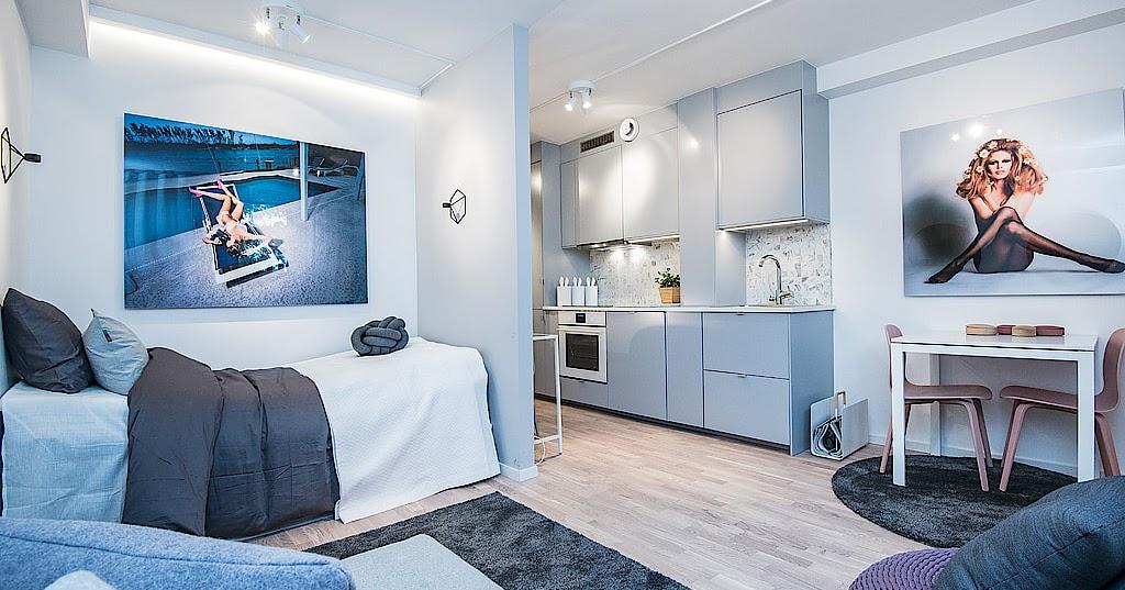 Un Miniappartamento Dai Colori Pastello