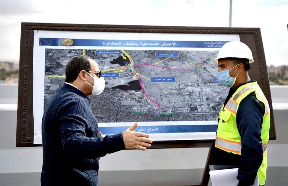السيسي يتفقد مشروعات تطوير القاهرة الكبري