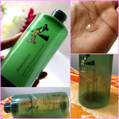 Product Empties Part 3. Innisfree green tea balancing skin ex toner review