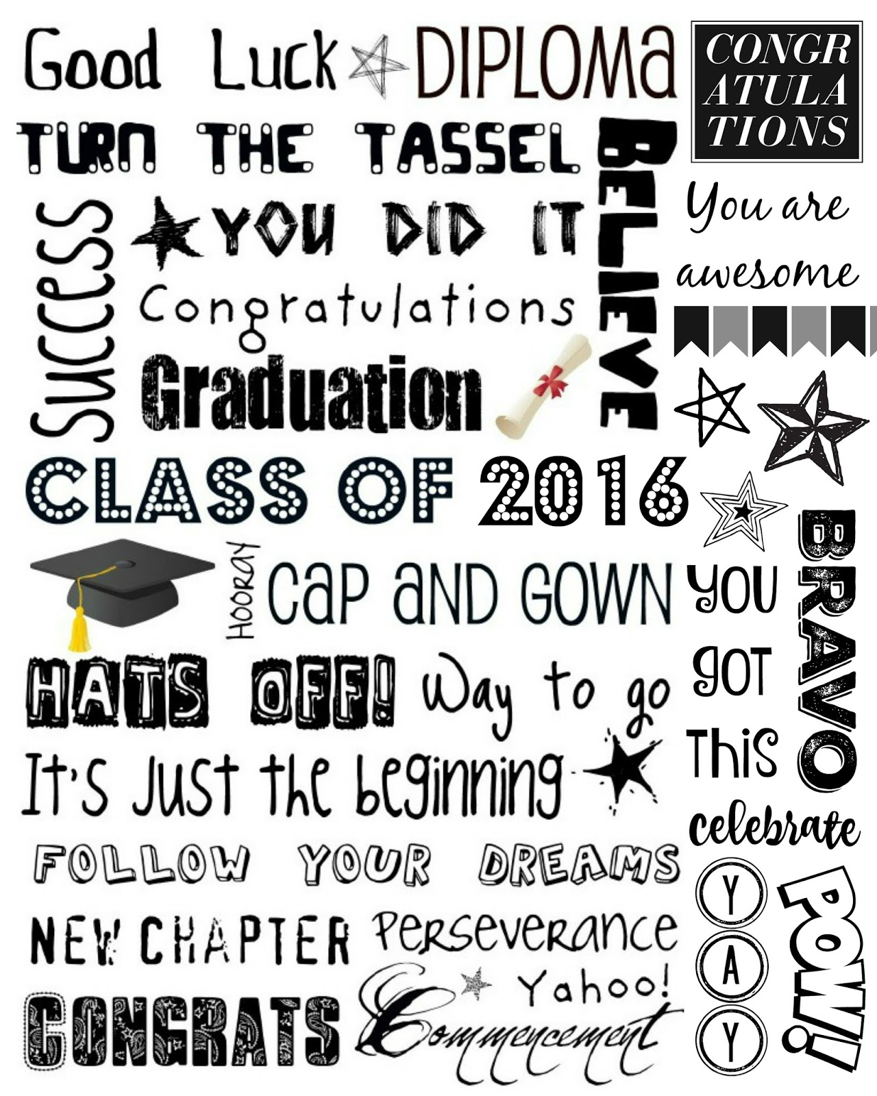 May The 4th Be With You Graduation: Upcycled Education: Graduation Subway Art 2016