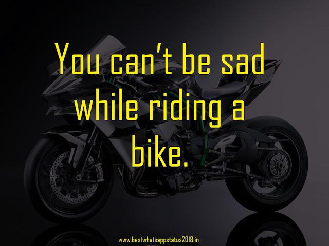 Bike Racing Short Status For Facebook