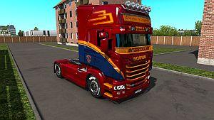 Overby Transport Danmark skin for Scania RJL