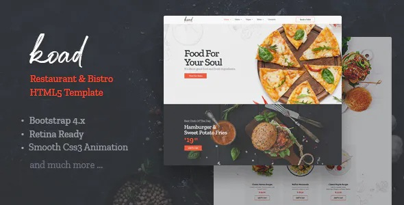Best Restaurant & Bistro HTML Template