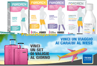 Logo Fordren : vinci 140 set di valige e 5 viaggi ai Caraibi