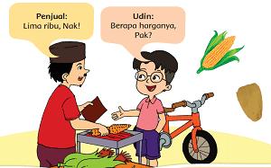 Udin membeli jagung bakar www.simplenews.me