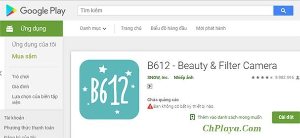 Tải B612 - Beauty & Filter Camera về điện thoại, máy tính mới nhất f