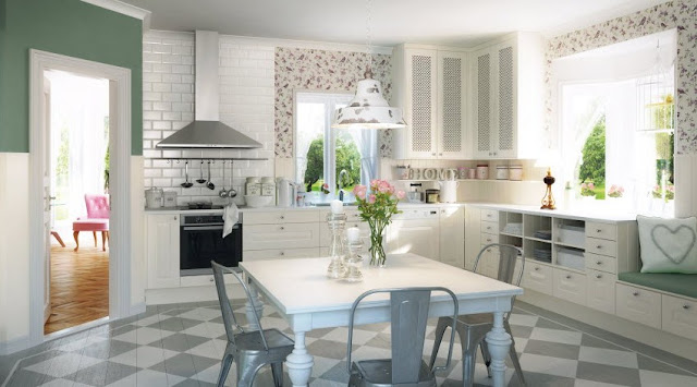 El rom ntico estilo n rdico en la cocina cocinas con for Cocina estilo nordico