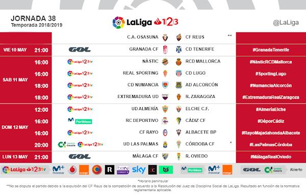 El Málaga - Oviedo, el lunes 13 de mayo a las 21:00 horas