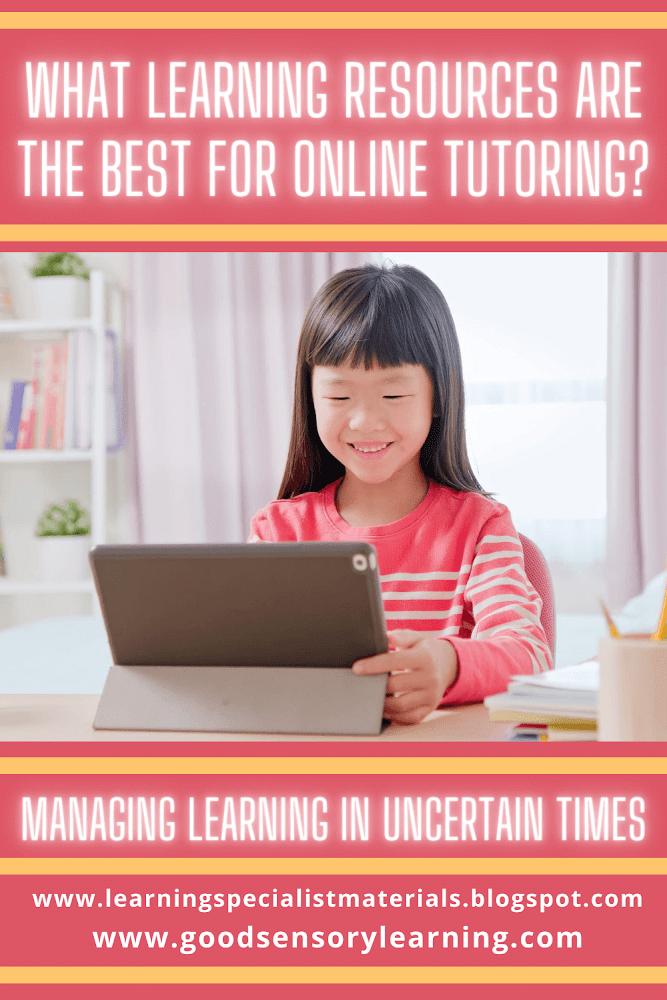 happy student doing online tutoring