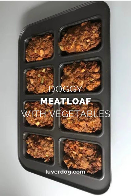 Doggy Meatloaf with Vegetables