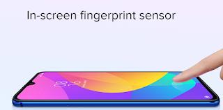 mi 9 lite -we-tech -mobile  in screen finger print