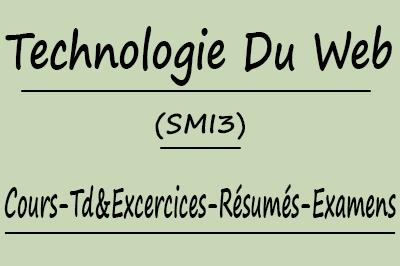 Technologie Du Web (SMI3) Cours // Td Et Exercices // Résumés // Examens