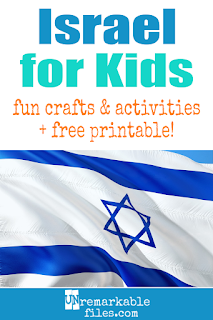 Learning about Israel is fun and hands-on with these free crafts, ideas, and activities for kids! #Israel #jerusalem #hebrew #educational