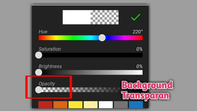 cara background transaparan di picsay pro
