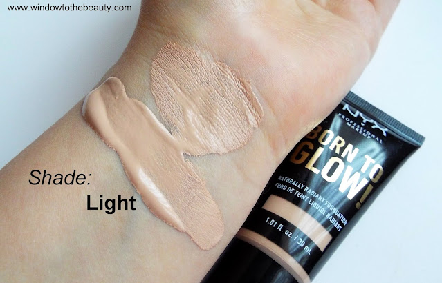 NYX Professional Makeup podkład Born to Glow Naturally Radiant swatche odcieni