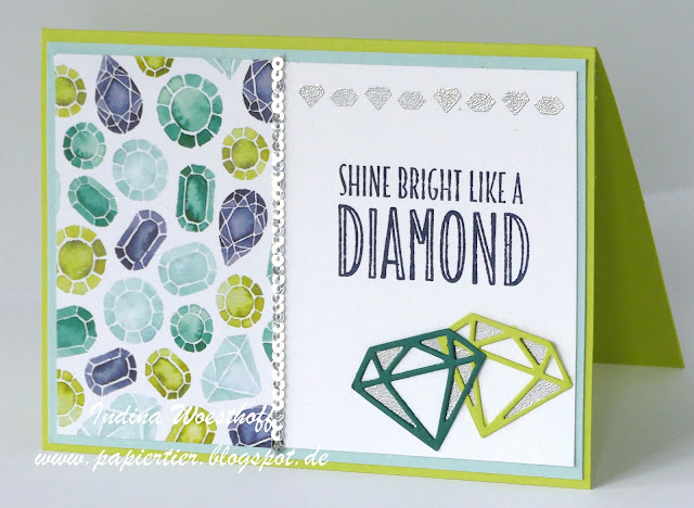 You're priceless | Stampin' Up! | papiertier Indina | Shine bright like a diamond