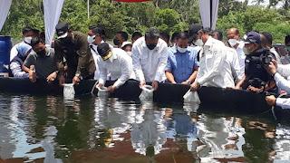 Menteri KKP RI Trenggono Puji Hasil yang Dicapai Klaster Tambak di Aceh Timur
