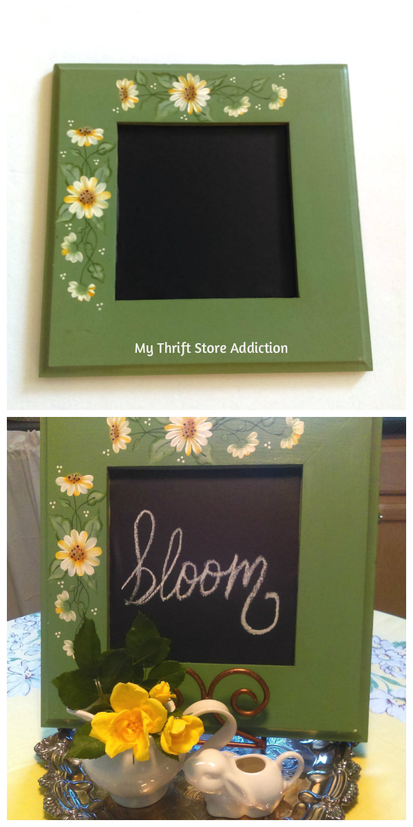 15 minute upcycled thrift store frame chalkboard