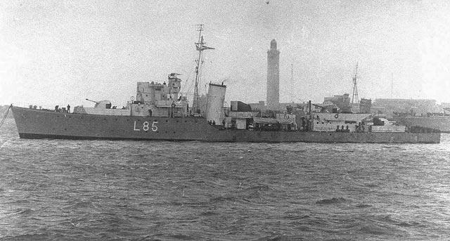 British destroyer Heythrop, sunk on 20 March 1942 worldwartwo.filminspector.com