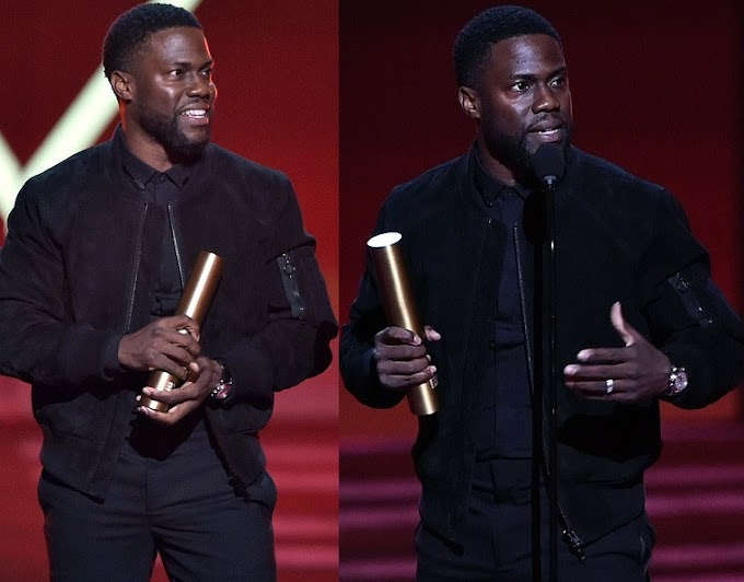 Kevin Hart makes first official appearance since car crash at People's Choice Awards